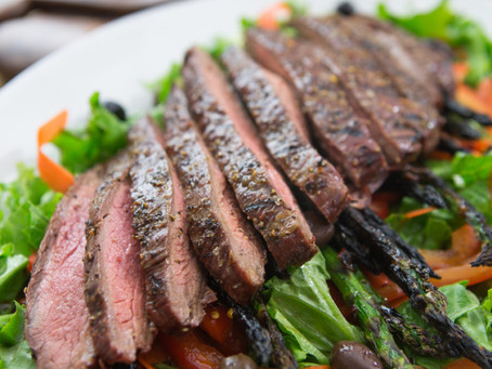 Flank Steak and Roasted Vegetable Salad