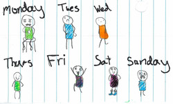 Days of the week by Kristianna