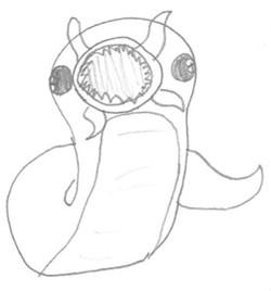 Soul sucking death worm by Ella C