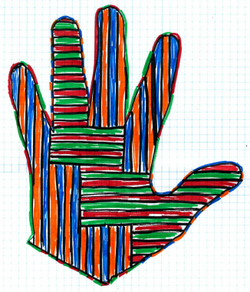 artistic hand by anonymous