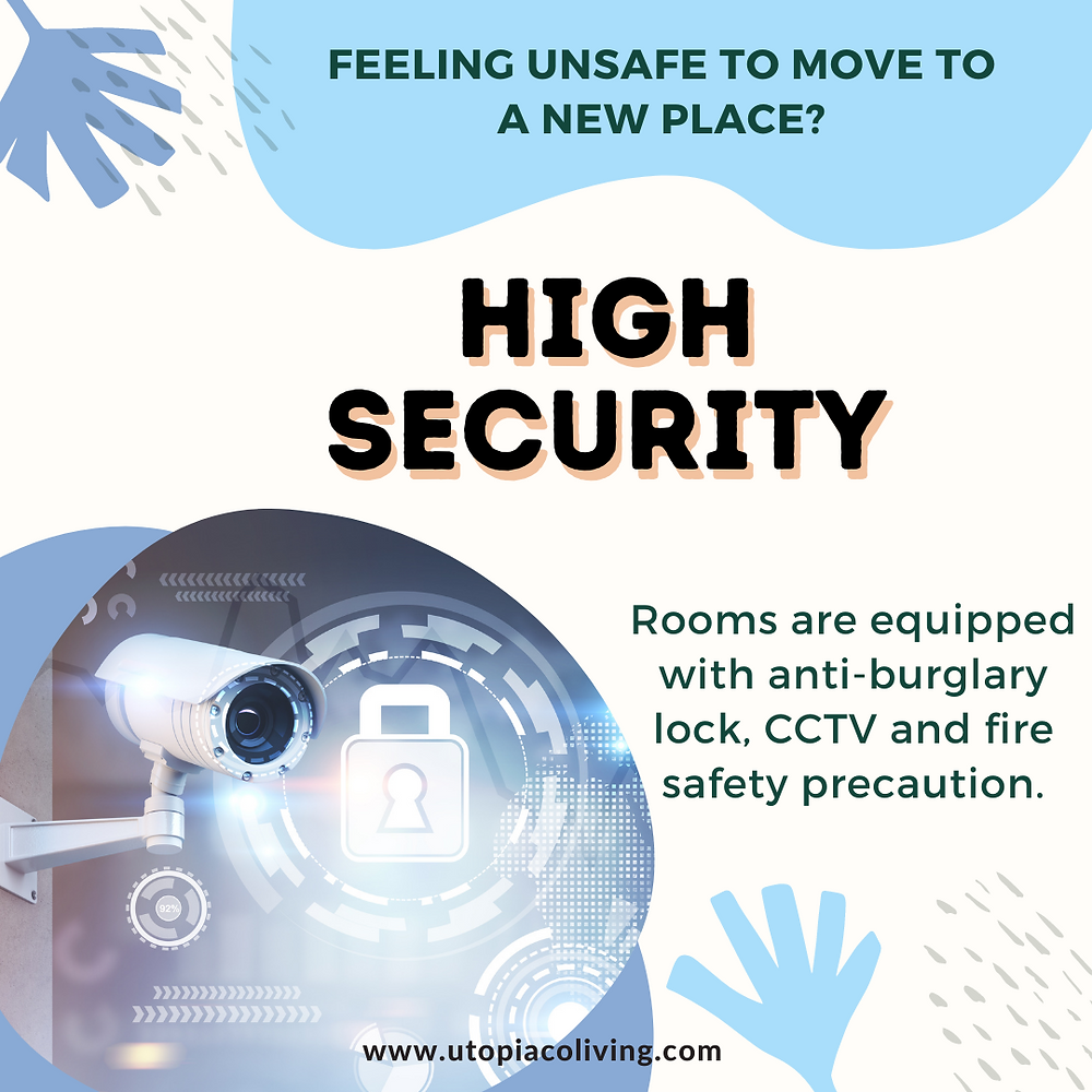 A high security poster made by Utopia Co-Living