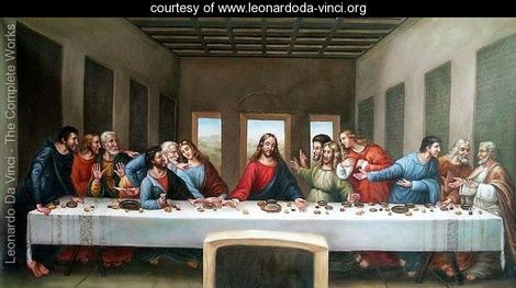 Famous Da Vinci painting of the Last Supper
