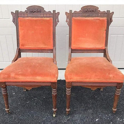 VINTAGE EASTLAKE CHAIRS (for the pair)