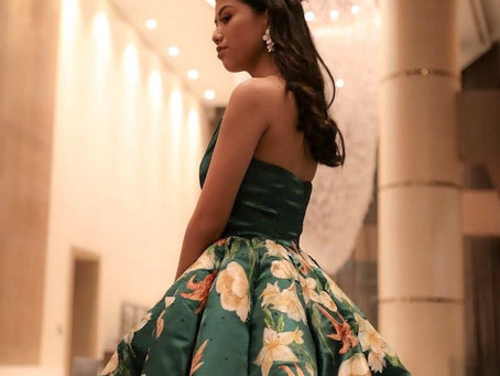 This Artistic Teen Hand-Painted (and Sewed!) Her Own Stunning Graduation Dress