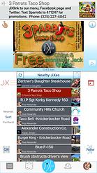 JiXler home screen