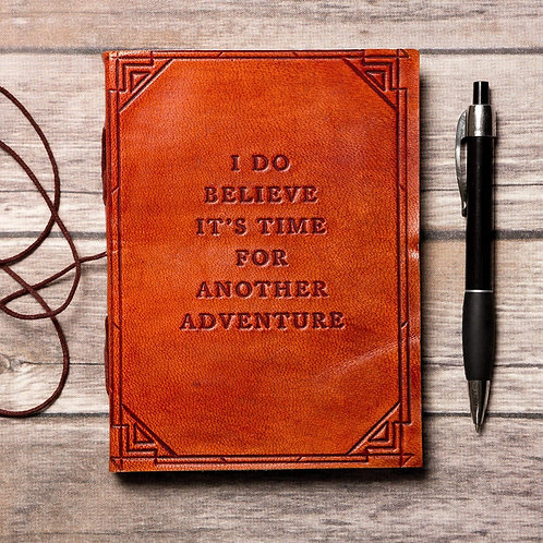Another Adventure Quote Leather Journal - 7x5