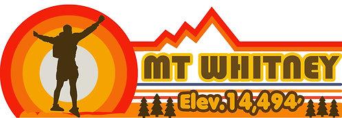 Mt Whitney Summit 14,494 Retro