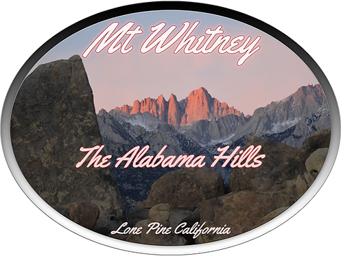 The Alabama Hills and Mt Whitney alpenglow