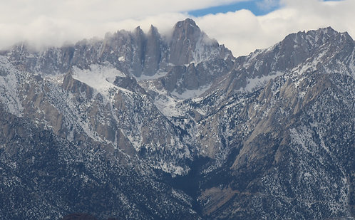Whitney Portal Road switchback and Mount Whitney