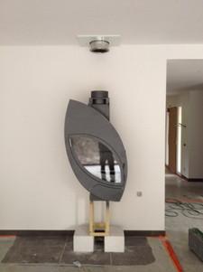 Pose d'une cheminée design