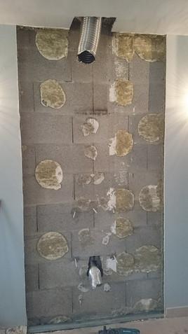 Isolation d'un mur arrière