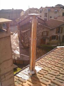 Sortie de toit inox