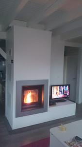 Foyer à granulés de bois