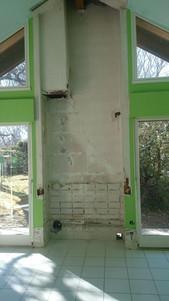 Dépose d'une cheminée existante pour Réinstallation foyer moderne