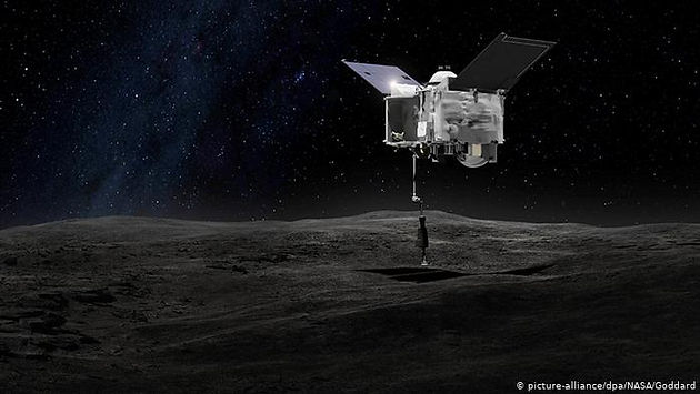 Sonda OSIRIS-REx tocando no asteroide Bennu