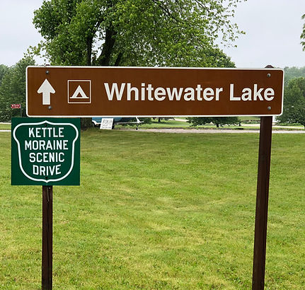 Whtewater Lake Sign