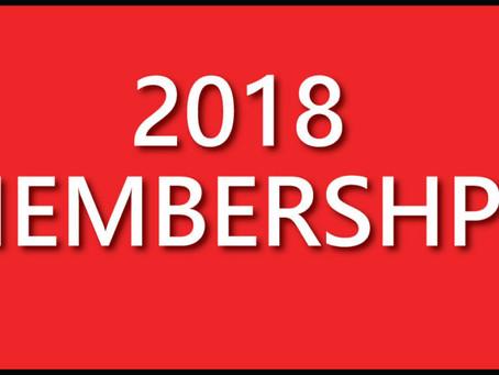 2018 Membership Pack