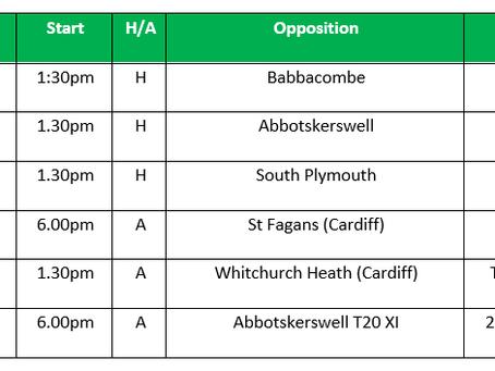 Pre-Season - Nets, Fixture & Tour Information