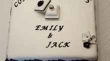 An Engagement Cake for two youngsters planning a new life together.
