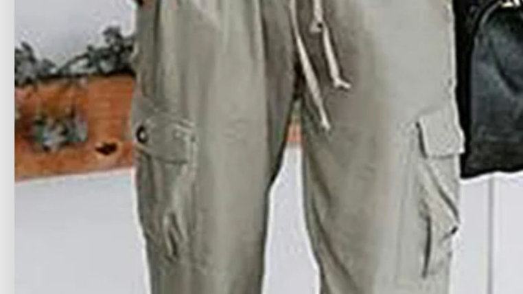 Cement cargo joggers