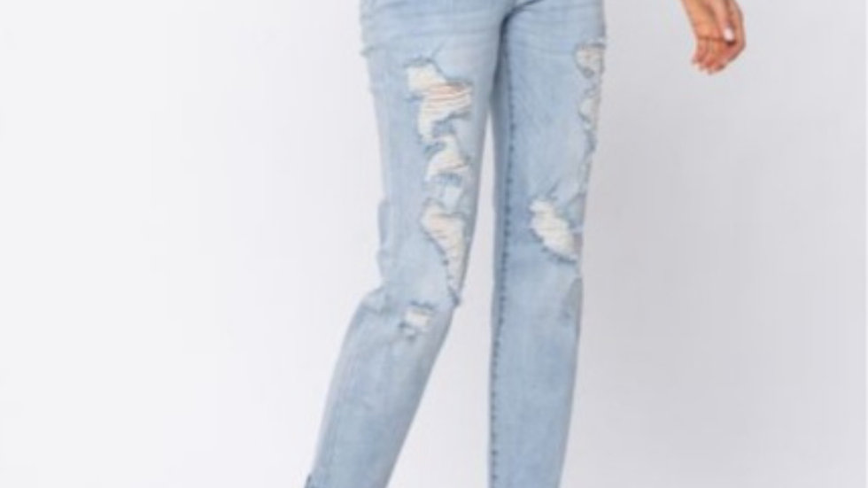 Judy blues loose fit distressed ankle lenghth