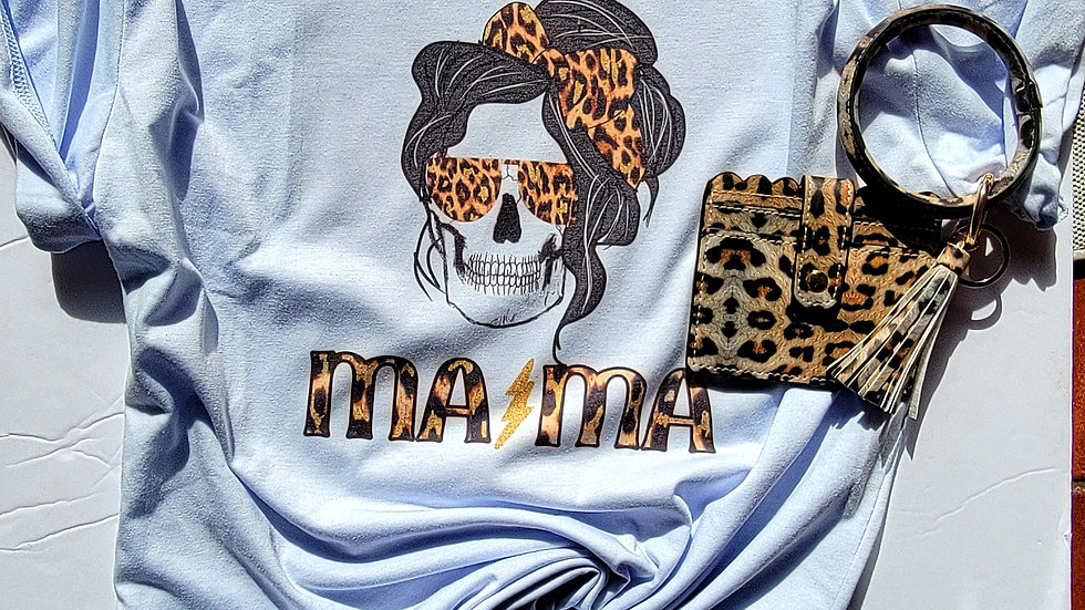 Mama leopard tee