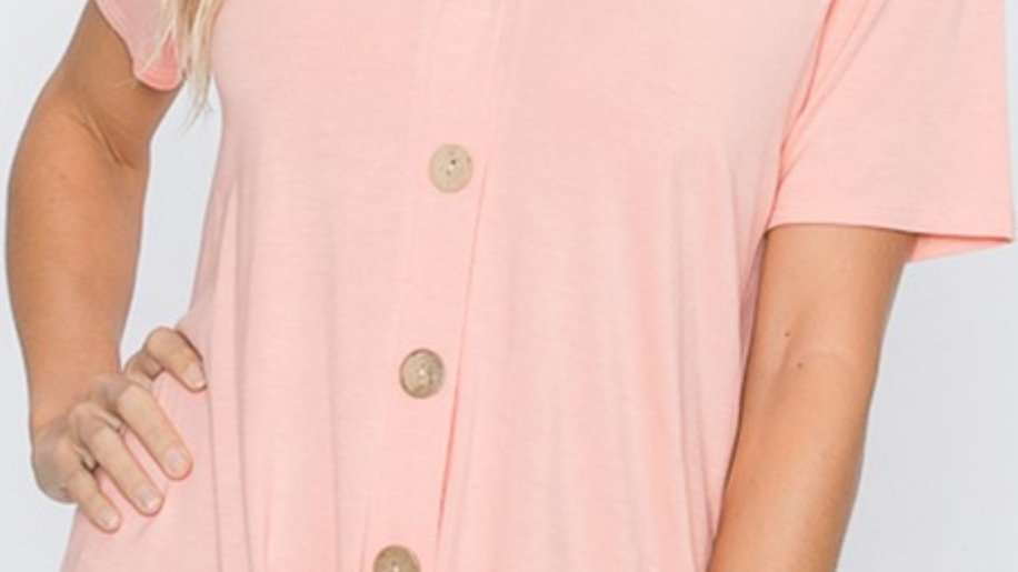 Plus size peach tied top