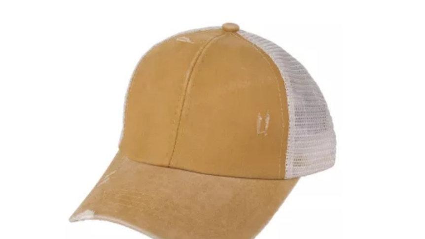 CC brand crisscross ponytail cap