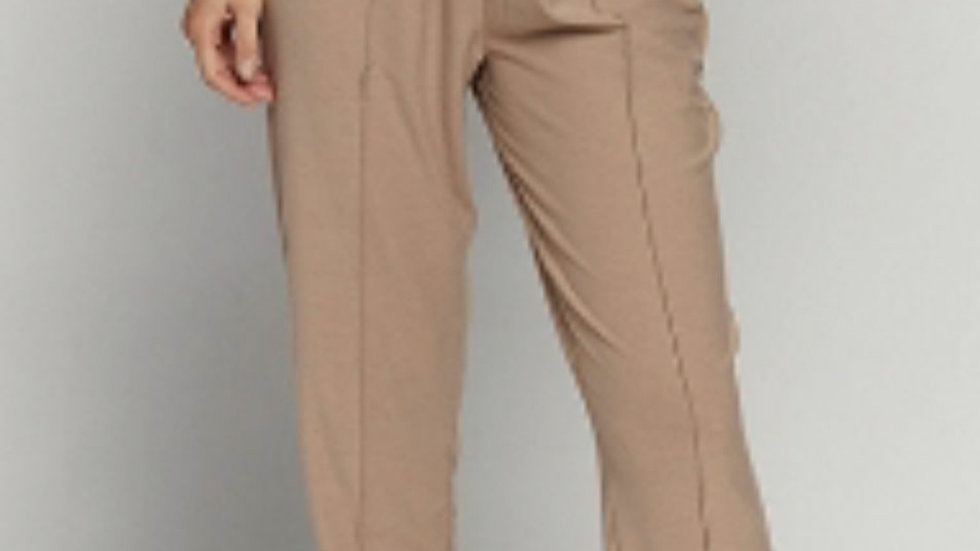 Taupe night life joggers