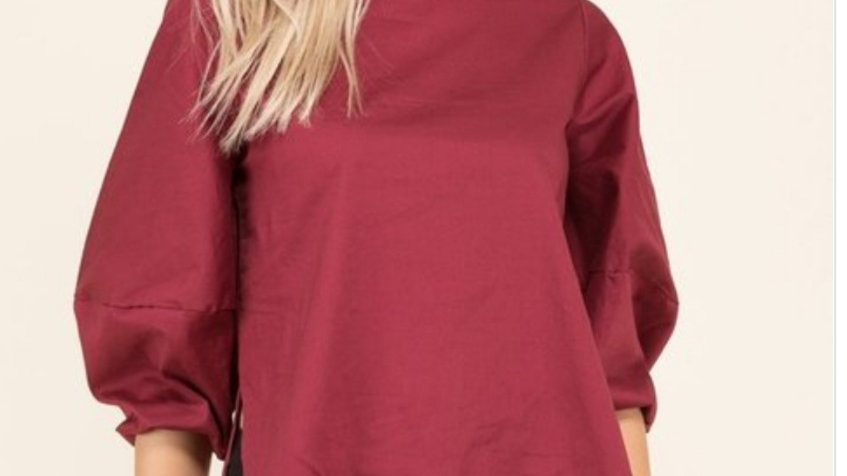 Bubble sleeve solid top