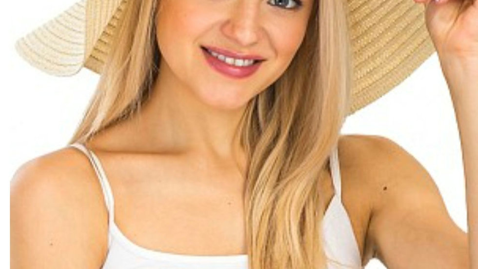 Straw floppy Beach hat