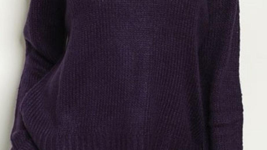 Purple rain sweater