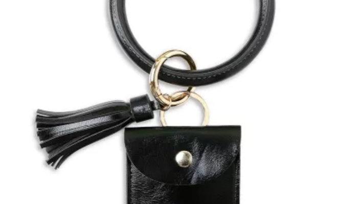 Tassle key ring card holder bangle