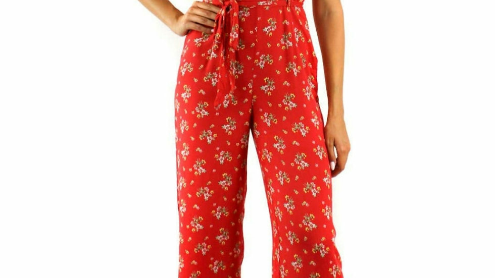 Red floral 1 piece