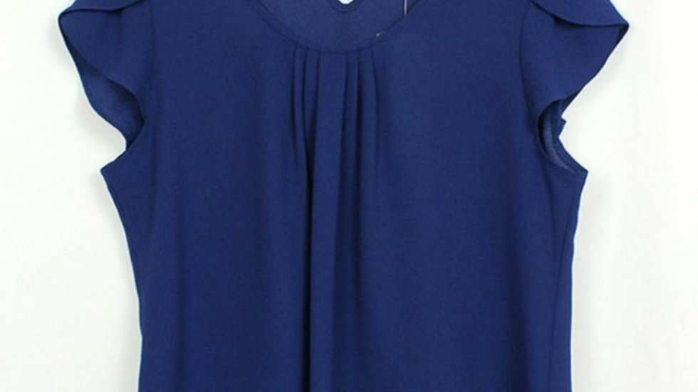 Cap sleeve cobalt dressy top