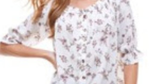 Floral frilly top