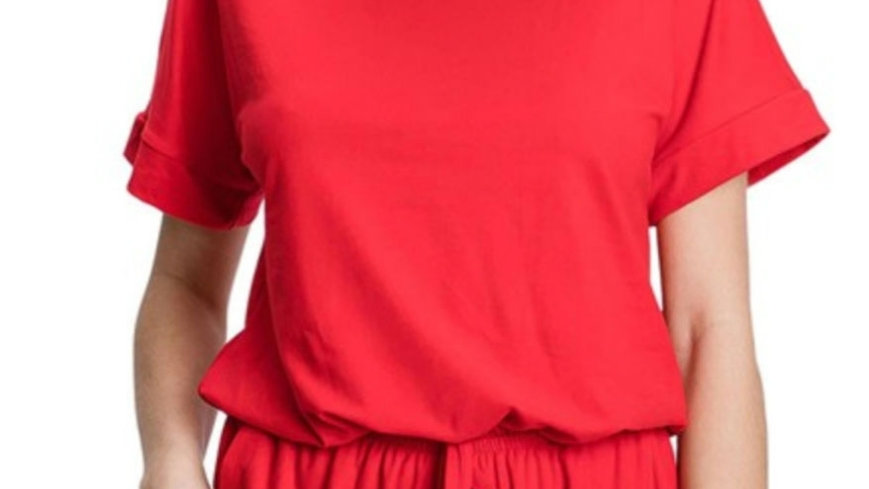 Ruby tie romper with pockets