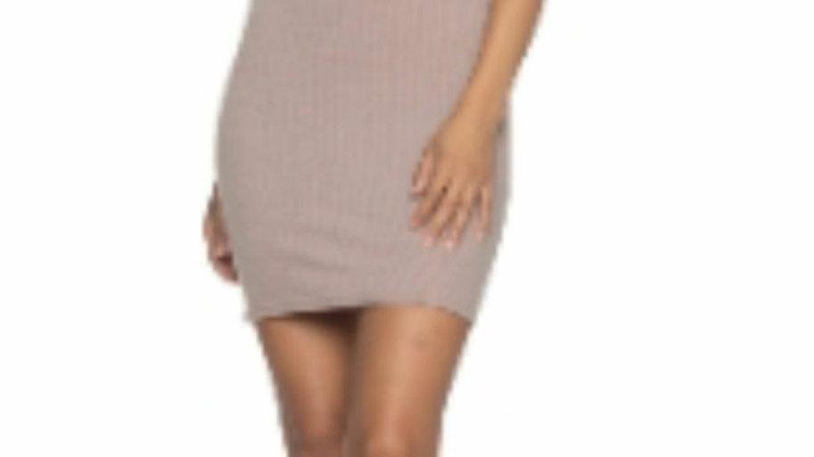 Mocha lace up short dress