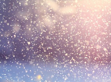 Il neige ! C'est magique.