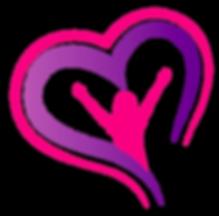 Logo fond transparent mauve et rose - ju