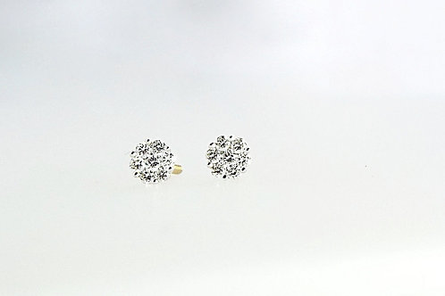 0.25ct Diamond Cluster Studs set in 18ct Yellow Gold