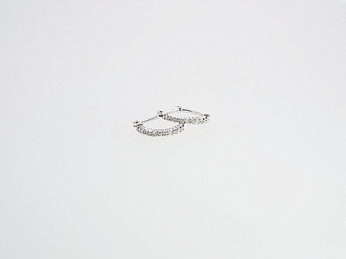 Diamond and White Gold Hoop Earings