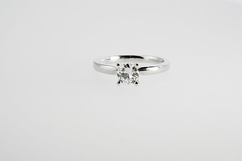 0.70 ct Brilliant Cut Diamond set in  Platinum