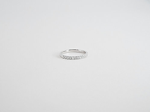 0.20ct Diamond and White Gold Half Eternity Ring