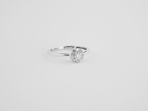 0.25ct Cluster Ring set in 18ct White Gold