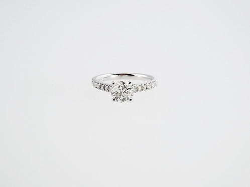 1.03 ct OLD CUT Diamond in 18ct White Gold