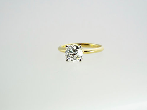 1.58 ct OLD CUT Solitaire set in 18ct Yellow Gold