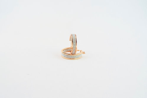 Silver and Rose Gold Plated Hoop Earrings