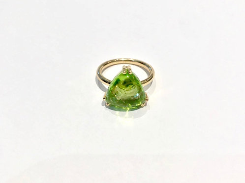 BESPOKE Trillion Cut Cabochon Peridot Ring