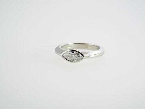 0.75ct Marquise diamond set in Platinum